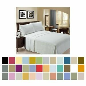 Bamboo Sheet Set 4 pc by LuxClub - Full Queen King California King - 30 + Colors