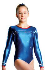 Gymnastikanzug Turnanzug ERVY Folienstoff Gr. 152 *NEW PRODUCT*