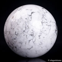 347g 61mm Natural Howlite Quartz Crystal Sphere Healing Ball Gemstone Chakra