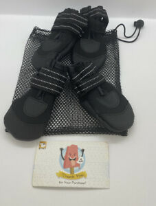 HC Pet  DOG Shoes, Small, Two Pairs, Black