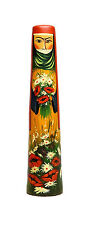 Doll Wildflowers Wood Carving Handcrafted Armenian Folk Art Sculpture handmade