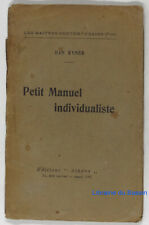 Petit Manuel individualiste Han Ryner