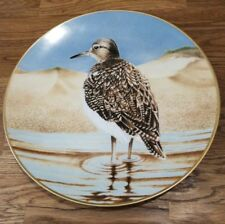 The 12 Waterbird Plates from Danbury Mint Sandpiper Porcelain Plate