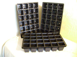 24 CELL F/ SIZE PLASTIC SEED TRAY INSERTS CHOOSE FROM 5 TRAY INSERTS UP TO 100