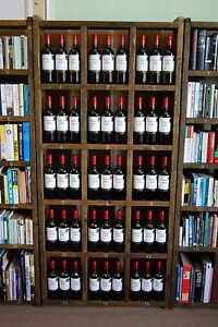 WINE RACK albums bottles pigeon holes reclaimed wood shelves bar pub gplanera