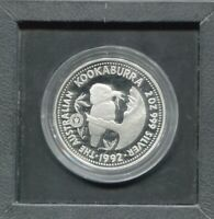 1992 2oz Silver $2  Kookaburra Feeding Nestling  Adelaide Pound Privy