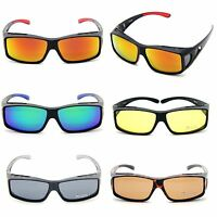 Polarized Sunglass Wear/Cover Fits Over RX Glasses Mirror Driving Eyewears UV400