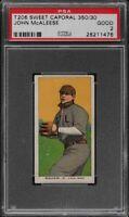 1909-11 T206 John McAleese Sweet Caporal 350 St. Louis PSA 2 GD