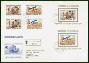 Mayfairstamps Central African Republic 1983 Wildlife Souvenir Sheets combo First