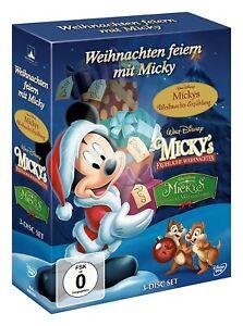 Weihnachten feiern mit Micky [3 DVDs/NEU/OVP] 3 Walt Disney Klassiker