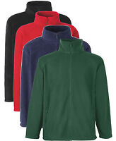 Fruit of the Loom RED BLUE YELLOW or BLACK Full Zip Fleece to Clear!