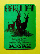 Grateful Dead Backstage Pass Gazelle Animals Zoo Amp Oklahoma City OK 9/2/1985