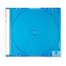 20 SINGOLO CD JEWEL CASE 5.2 mm spina dorsale Slim Blue Vassoio NUOVO VUOTO Sostituzione Coperchio