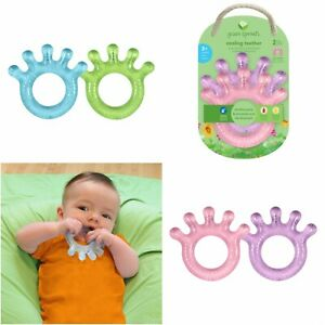 Cooling Teether, 2 Pack, GREEN SPROUTS, Cooling relief for baby gums, 3+ Months