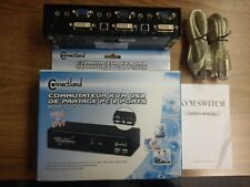 VGA+DVI+Audio 2 ports USB KVM  new in box use standard cable, with 2 USB AB cabl