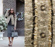 ZARA Gold Tweed Fabric Raw Edge Blazer Jacket M BNWT REF: 7980 952