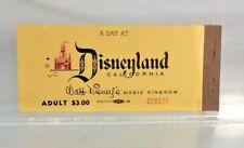 Original 1956 DISNEYLAND California Park Ticket Book Very Rare