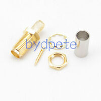 RP-SMA female RF Connector male pin crimp for RG58 RG142 RG400 LMR195 cable