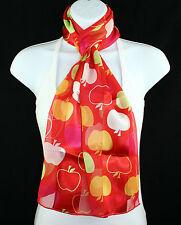 Apple For Teacher Womens Scarf Gift For Teacher Ladies Long Red Scarves New