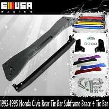 92-95 Civic 93-97el Sol 94-01 Integra Rear Lower Tie Bar + Subframe Bar BLACK