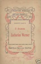 Gabetti: Il dramma di Zacharias Werner. 1916