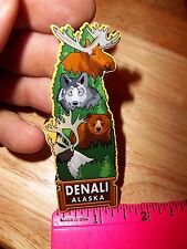 Alaska Magnet Denali National Park Alaskan wildlife! Wood Alaska Magnet - Nice!