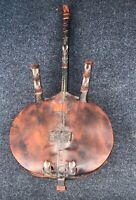 Vintage Handmade Kora African Lute String Instrument Gourd Cowrie Shells