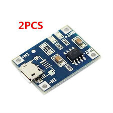 2x TP4056 5V 1A Lithium Battery Charging Board Charger Module Micro USB'
