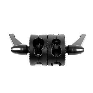 Dual Grip Swivel Head Bracket Clamp f Studio Boom Arm Reflector Holder Stand