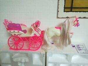 Barbie Pferd Diva  Rosebud 1991 Vintage Kutsche Schlitten