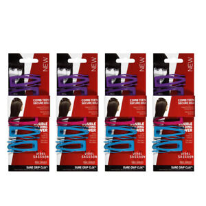 Vidal Sassoon Sure Grip Clix Hair Clips, 6 count- 4 PACK