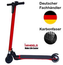 E Scooter Carbon, City Roller, Elektroroller, bis 25km/h Rot, ultraleicht