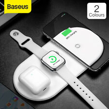 Baseus 3 in 1 Qi Wireless Fast Charging Pad LED for iPhone Watch AirPod