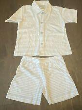 Elephantito Boys Sz 3 Blue Stripe Pajama PJ Set