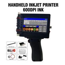 600DPI Ink Date Words QR Code Barcode Logo Machine DIY Handheld Inkjet Printer Q