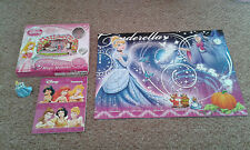 Disney Princesses Aurora Magic Moments Jigsaw Puzzle Treasury Book Figure BUNDLE