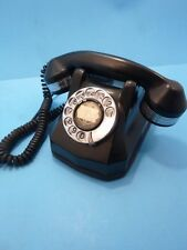Vintage AE40 Antique Automatic Electric Monophone Rotary Telephone Chrome Black