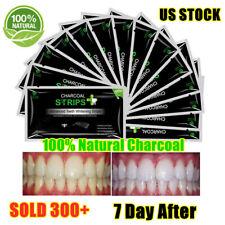 EZGO Activated Charcoal Teeth Whitening Strips Non-slip NO Sensitive 28pcs