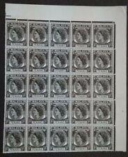 Malaya 1954 Penang Queen Elizabeth II 1c Block Of 25 With Margin - 25v MNH