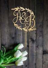 Custom Initial Letters Wedding Cake Topper Personalized Rustic  Letters Wedding