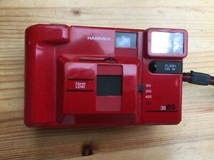 Vintage!!! Für Sammler!!! HANIMEX 35 ES Compact 35 mm Kamera, analog, rot