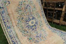 """Vintage Handmade Turkish Oushak Area Rug 8'6""""x5'"""