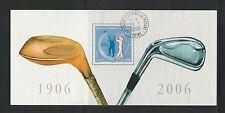 timbre France bloc souvenir 2006  open de golf  num: 13  oblitéré