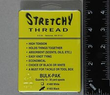Stretchy Thread 12 Spool Guide Pack Color: Black for Bait Wrap Spawn Tying
