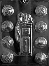 S028 Golf Caddy and Balls Chocolate Candy Soap Mold with Instructions