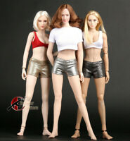 "1/6 Short/Long Slim Pants Fit 12"" Female Phicen TBLeague Action Figure Body Toys"