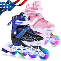 ANCHEER Inline Skates for Kids, Adjustable with Light Up Wheels Beginner Roller