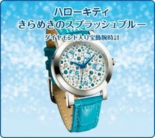 NEW Hello Kitty Collection Splash Blue Watches with Diamond SANRIO from JAPAN
