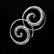 Fashion Silver Earrings Tribal Spirale Schmuck OHRHÄNGER Ohrringe الأقراط  ER127