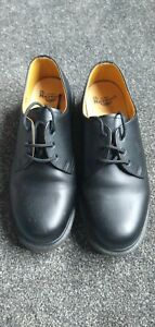 Dr Martin's Industrial Size 8 Soft Toe, Black Leather Brand New Works Shoes,...